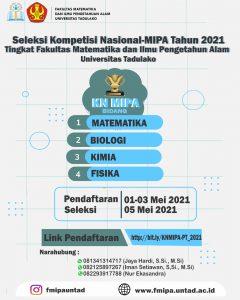 Seleksi Kompetisi Nasional-MIPA Tahun 2021